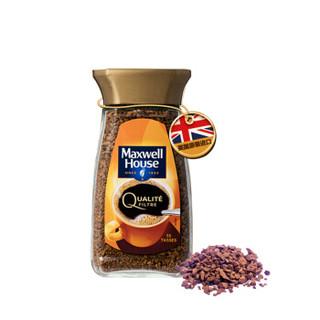 Maxwell House 麦斯威尔 英国进口 速溶香醇金咖啡 黑咖啡 冻干粉 100g/瓶