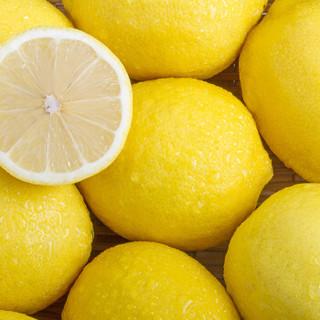 四川安岳黄柠檬4颗 一级中果 单果约90-110g 新鲜水果