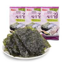京东PLUS会员 : 韩国原装进口 韩福10.2 原味海苔15克 *25件