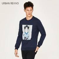 URBAN REVIVO MF03S4EN2003 男士和风T恤 S