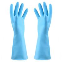 艺姿短款手套厨房清洁防滑洗碗手套洗衣服家务手套(颜色随机)YZ-703 *26件