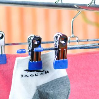 优豪 浸胶防滑裤夹裙裤夹子镀络钢内衣架  蓝色3只装