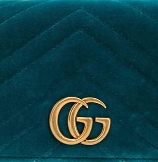 GUCCI 古驰 GG MARMONT 女士天鹅绒单肩包