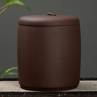 金镶玉 茶叶罐 原矿紫砂普洱茶罐茶具密封储藏罐茶具配件 大号圆润茶叶罐
