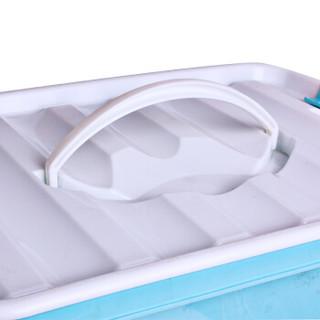 EDO 依帝欧 TH-1050 塑料收纳箱 蓝色 10L*3个装