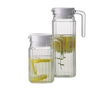 乐美雅 Luminarc 无铅玻璃冷水壶凉水杯饮料果汁茶壶 四方条壶 1.1L 单只装 23541