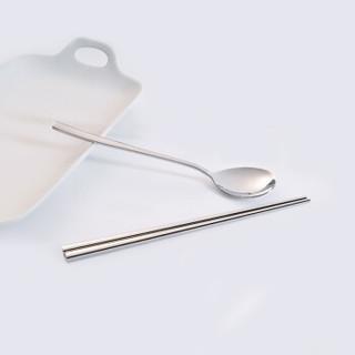 阳光飞歌 304不锈钢筷子勺子套装  韩式餐具套装便携盒学生白领筷子勺子餐勺咖啡勺饭勺 两件套装