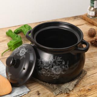Cfcraft 泥火匠 汤煲 陶瓷 3800ml 黑色