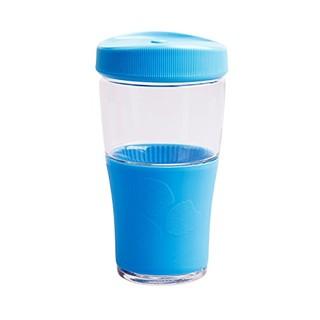 乐美雅 Luminarc 全钢化玻璃炫彩隔热套车载随行水杯茶杯果汁杯 500ml 天蓝色