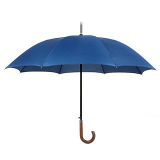 利创 木弯头长柄雨伞 蓝色