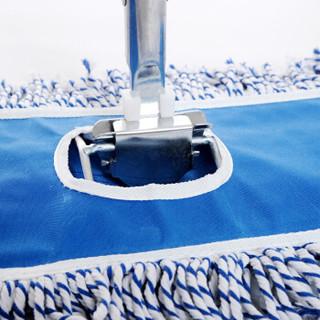 品居源 家用大号平板拖 商用保洁平拖吸水木地板尘推 纱线地拖把 90cm G01494