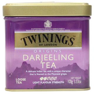 波兰进口 川宁(TWININGS) 茶叶红茶散茶 英国川宁欧式大吉岭红茶听装 100g *2件