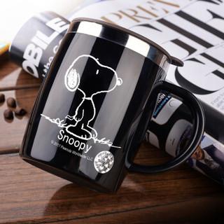 SNOOPY 史努比 DP-58002 保温杯水杯 420ML 黑色