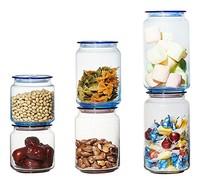 Luminarc 乐美雅 玻璃储物罐套装 粉蓝 6件套
