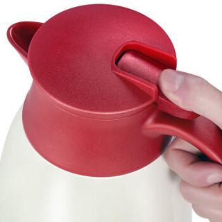 RAE 然也 玻璃内胆保温壶 咖啡红 1L