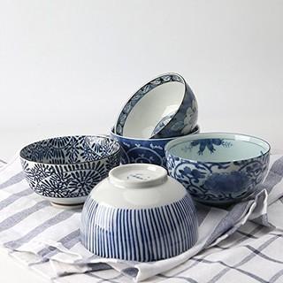 美浓烧 陶瓷餐具 5.1英寸 三个装