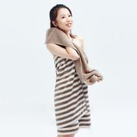 DAPU 大朴 A类浴巾 ( 70*140cm、驼色条纹)