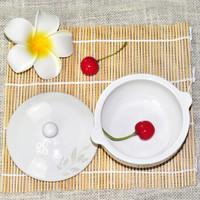 雅诚德 陶瓷蒸蛋汤盅 2只装 白色小号
