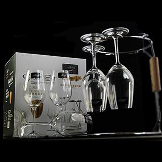 意德丽塔 水晶红酒杯 350ml 6支装、酒架