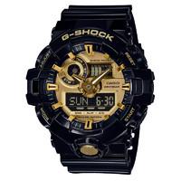 CASIO 卡西欧 G-SHOCK系列 GA-710GB-1A 男士石英手表