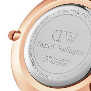 Daniel Wellington 丹尼尔惠灵顿 CLASSIC PETITE系列 DW00100163女士金属手表 白盘 金色表带