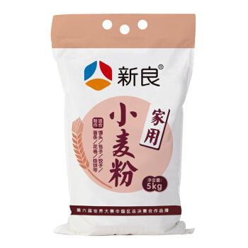 新良家用小麦粉 中筋面粉5kg 面条包子馒头饺子用小麦粉
