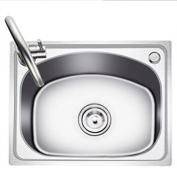 科固(KEGOO)K10016 304不锈钢水槽单槽 厨房洗菜盆水龙头套装