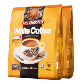 AIK CHEONG OLD TOWN 益昌老街 原味白咖啡2袋共1200g马来西亚进口咖啡速溶提神醒脑