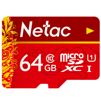 Netac 朗科 64GB Class10 TF内存卡 中国红