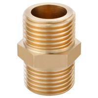 科固(KEGOO)K06028 全铜对丝接头 4分双外丝直接头 四分管件接头水暖配件 *3件