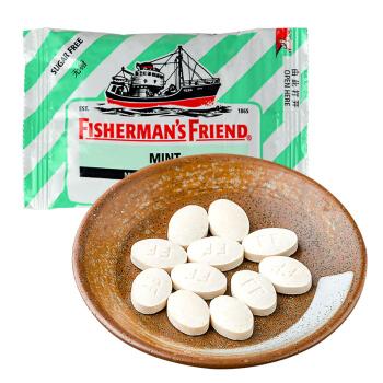FISHERMAN'S FRIEND渔夫之宝 润喉糖 薄荷味 25g *2件