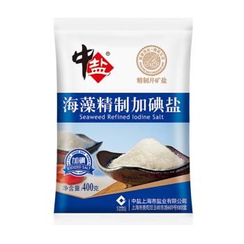 中盐 海藻精制加碘盐 400g