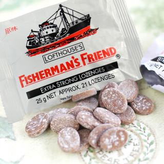京东PLUS会员 : FISHERMAN'S FRIEND 渔夫之宝 润喉糖 原味 25g