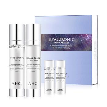AHC 透明质酸保湿水乳护肤套装 4件套(水100ml+乳液100ml+水30ml+乳液30ml)