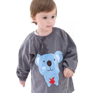 Elepbaby 象宝宝 儿童防水罩衣 (2件装、小汽车宝蓝+树袋熊灰色)