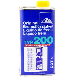 ATE刹车油制动液03.9901-6202.2德国进口高性能 DOT4刹车油 TYP200竞技版1L装(干沸点280℃/湿沸点198℃)