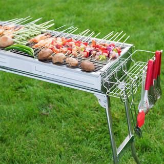 尚烤佳 烧烤炉烧烤架木炭户外不锈钢便携烤炉5人以上烤肉架烧烤工具