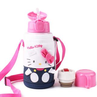 LOCK&LOCK 乐扣乐扣 HELLO KITTY系列 HKT392PIK 双盖儿童保温杯 550ml