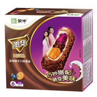MENGNIU 蒙牛 随变 随芯果 蓝莓橙子口味 冰淇淋 ( 75g*6支)