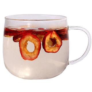 贡苑 茶叶 花果茶 无核山楂片无添加 山楂干泡茶水 山楂水果茶108g/罐