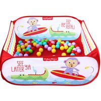 Fisher-Price 费雪 F0317-1 宝宝球池套装(内含100个玩具球) 红色