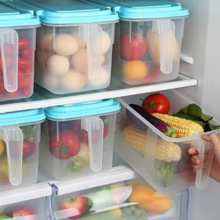 HAIXIN海兴冰箱收纳盒透明塑料密封保鲜盒鸡蛋盒水果食物储物盒带手柄抽屉整理盒 4只装