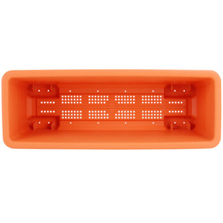 IRIS 爱丽思 四脚式种植塑料花盆 橙色