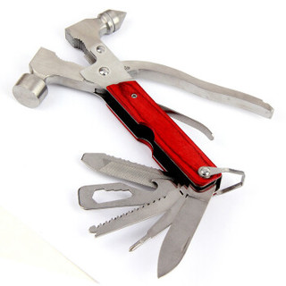 趣行 汽车安全锤 金属多功能16合1 家车两用刀锯钳锤螺丝工具组合 钢制破窗器救生锤