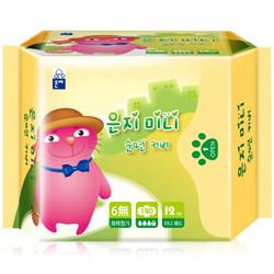 恩芝(Eun jee)猫小菲6无纤薄迷你卫生巾190mm/12片原装进口透气柔软 *2件