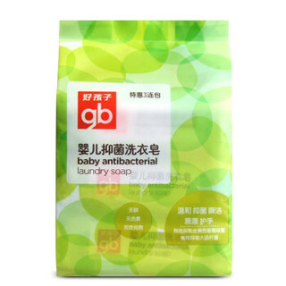 gb 好孩子 婴儿抑菌洗衣皂 220g(三连包)