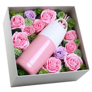 阿波罗之梦 AD120 玫瑰花保温杯子礼盒 粉色 *3件