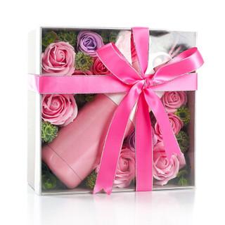 阿波罗之梦 AD120 玫瑰花保温杯子礼盒 粉色