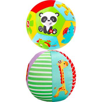 京东PLUS会员:费雪 F0805 宝宝摇铃球(内含两个玩具球) *8件