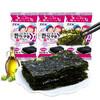 韩国进口 ZEK 儿童休闲零食 即食海味小吃 海苔 紫菜包饭 经典原味5g*3包 *21件